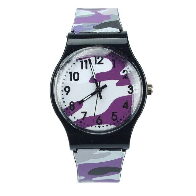 Fashion Hot sale Camouflage Children Watch Quartz Wristwatch For Girls Boy Drops