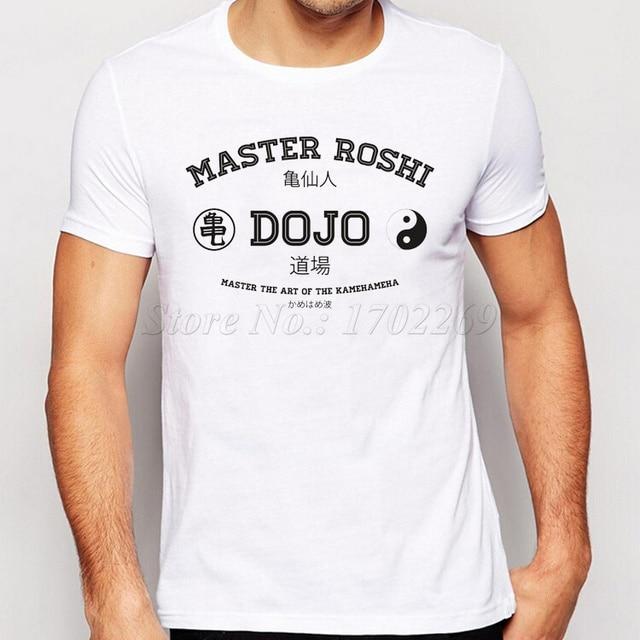 ファッションレタープリント男性tシャツマスター老師道場クール男性トップス半袖シンプルベーシックtシャツはドラゴンボールzシャツ