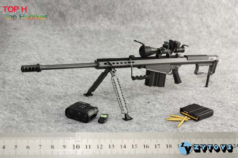 цены 1/6 scale ZY TOYS Figure Doll Weapon Sniper Rifle M107A1 Gun Model For 12