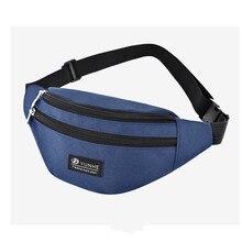 Bisi goro Waterproof Wear-resistant sports phone banana bag Chest men women Outdoor Fanny pack oxford unisex Belt Waist Bags
