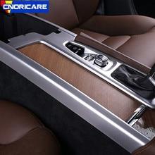 Углеродное волокно цветная Автомобильная центральная консоль коробка переключения передач наклейка отделка украшение для Volvo S90-19 LHD ABS подлокотник коробка Seuinqs