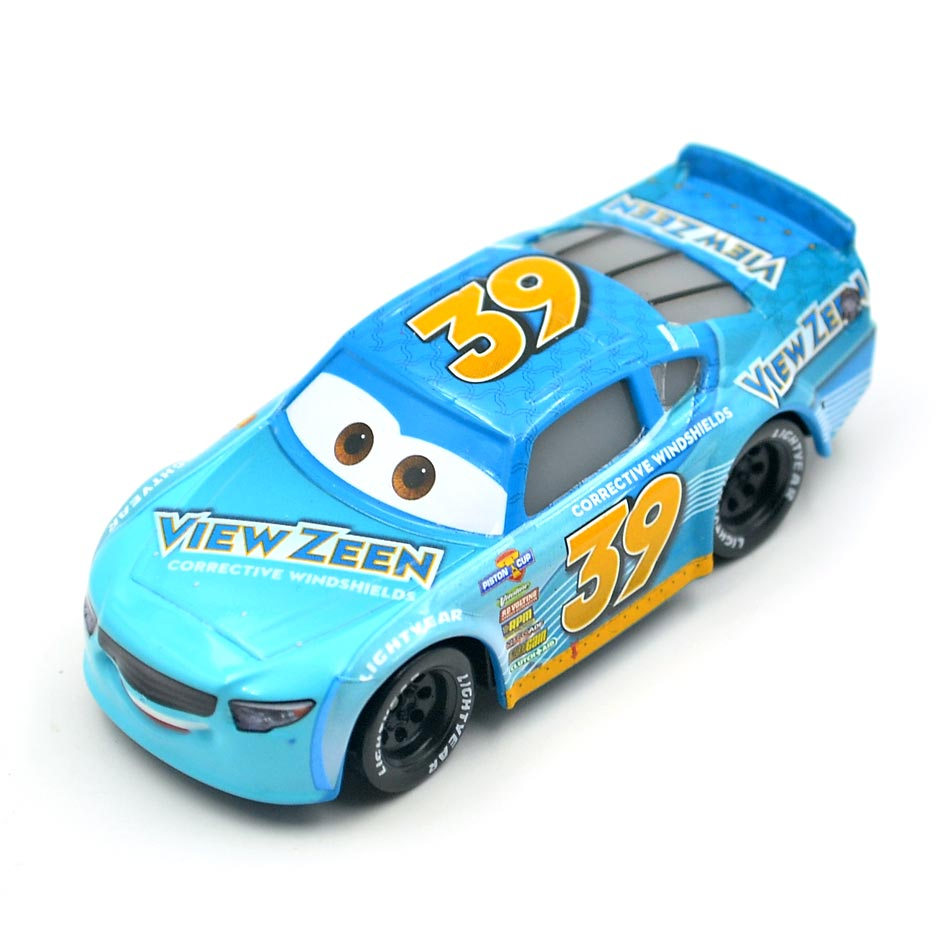 Disney Pixar Cars 3 Racing Center Buck Bearingly NO 39 Metal Diecast Toy  Car 1:55 Loose Brand New In Stock toys for children