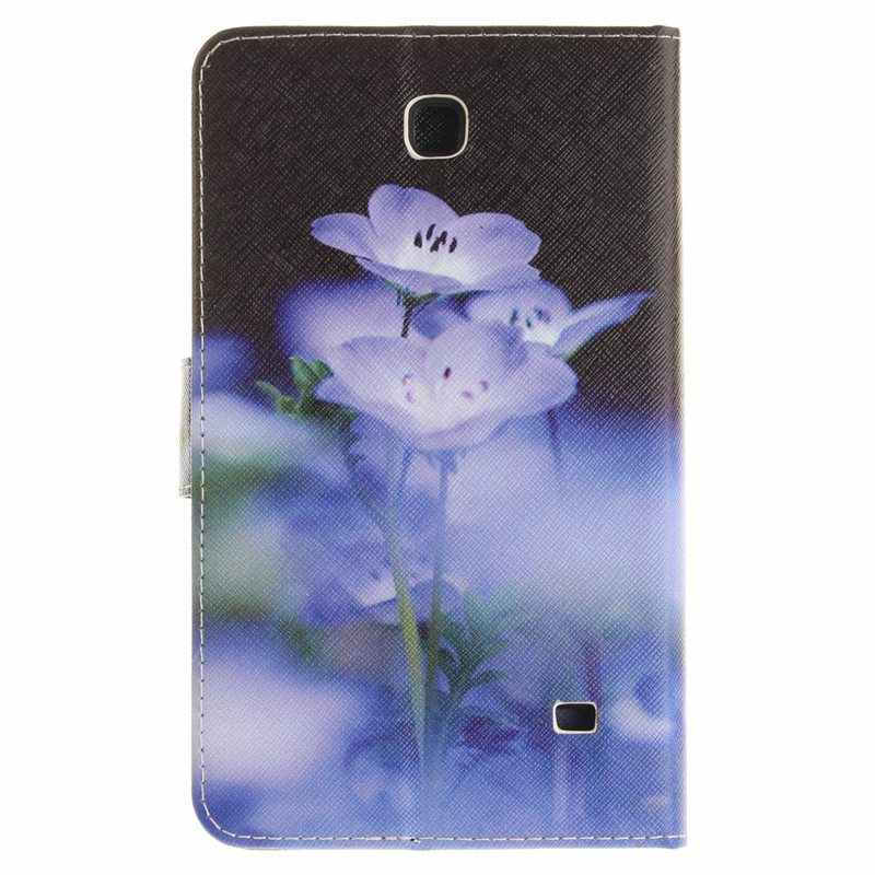 Чехол-книжка с милой совой из искусственной кожи чехол для samsung Galaxy Tab 4 7,0 T230 T231 T235 7,0 дюймов чехол с отделениями для карт + пленка + ручка
