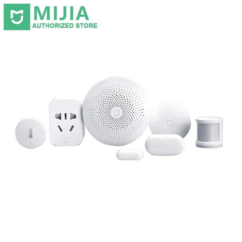 Xiaomi Smart Home Mijia 6 In 1 Kit Gateway Door Window Sensor Human Body Sensor Wireless Switch Multifunctional Smart Devices
