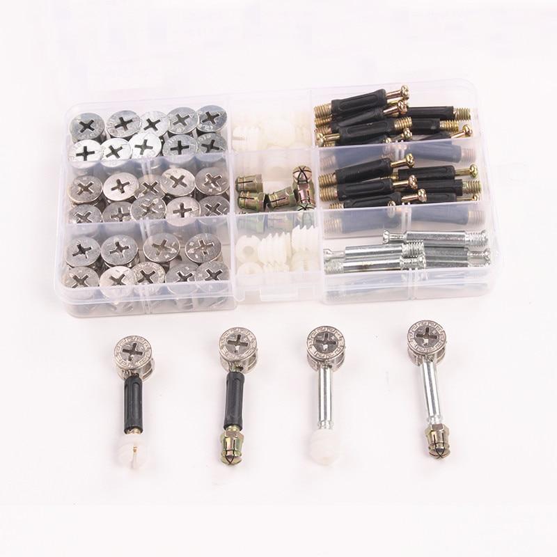 Kitchen Cabinet Connectors: 90PCS 40mm 3 In 1 M6 Furniture Nylon Screw Bolts Nut Set