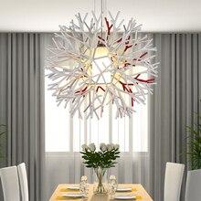 Современная краткое уникальный дизайн coral акриловые подвесной светильник спальня огни гостиная загорается 8102-1 бесплатная доставка