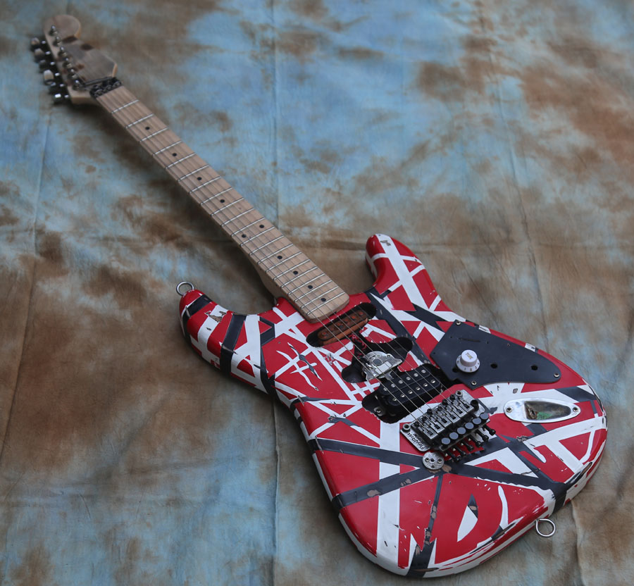 Custom Electric Guitar, Aged ST Guitar Vintage/Relic, EddieVanHalen's Quality Guitar(China)