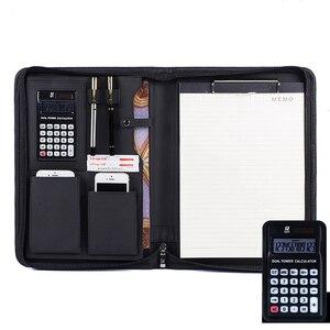 Image 5 - A4 zipper senior PU leather business work manager bag conference file folder organizer sales agreement folders portfolios 641B