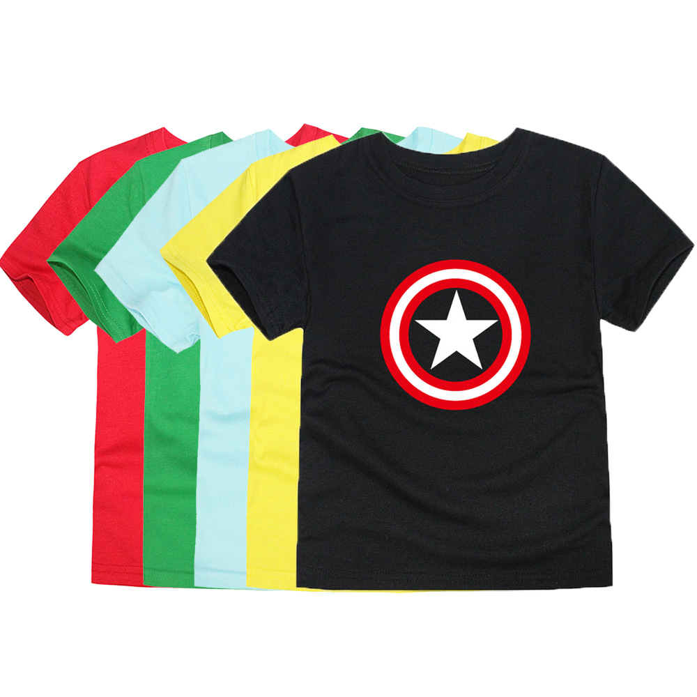 Kids DC Marvel T Shirts Boys Superhero Top Avengers Superman Batman Ironman Tee