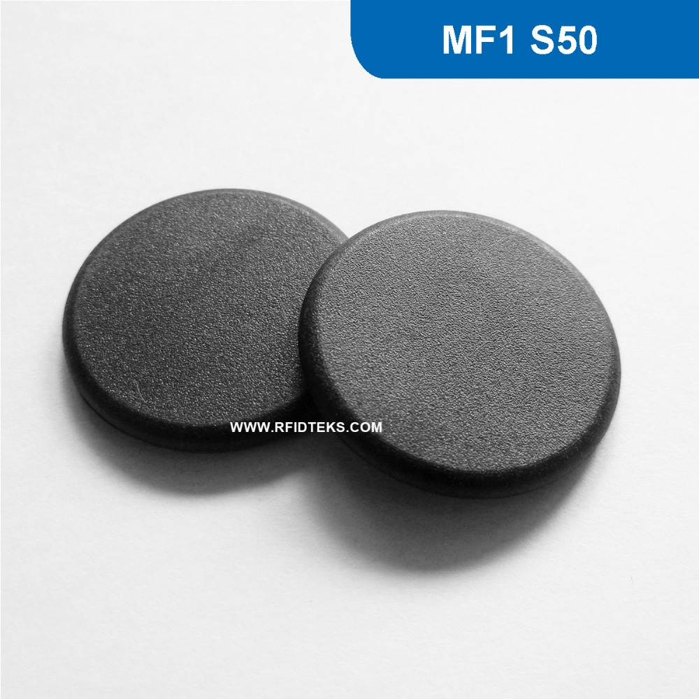 G24 Dia 24mm  RFID Industry Tag NFC Smart Token for Tools and small equipment  13.56MHZ 1KBYTE R/W ISO14443A with M1 S50 Chip 1000pcs long range rfid plastic seal tag alien h3 used for waste bin management and gas jar management