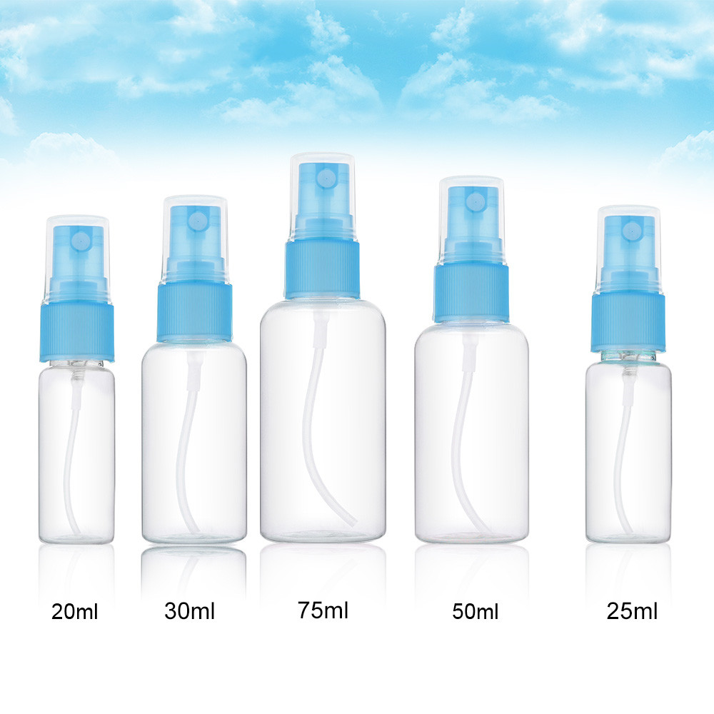 1 Pcs Mini Plastic Transparent Small Empty Spray Bottle For Make Up And Skin Care Refillable Random Color Travel Use