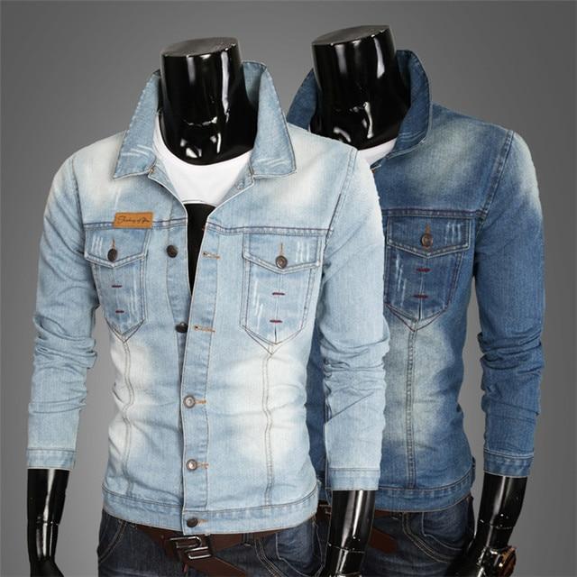 2018 Vente Chaude Aucun Veste Homme Mens Vestes Et Manteaux militaire Veste  Hommes Jaqueta Jeans Masculina e138f84c5325
