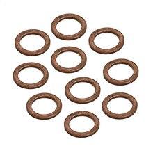 10 шт. шайбы-пробки для слива масла комплект прокладок 14*20*1,5 для многих Mercedes BENZ C43 C450 C63 GLA45- Замена 007603-014106