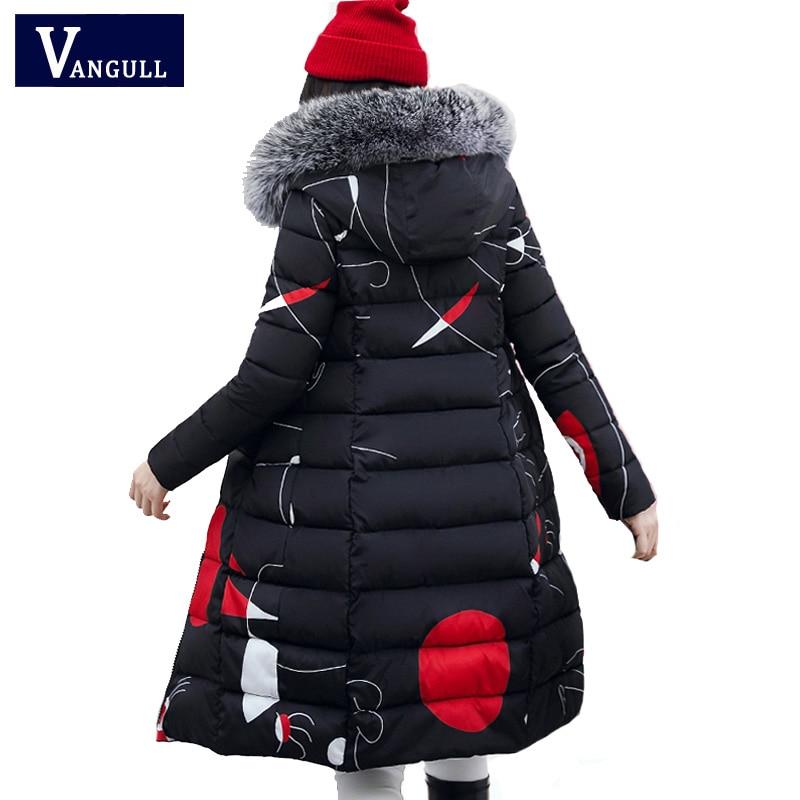 Vangull 2019 Winter Women Hooded Coat Fur Collar Thick Warm Long Jacket Both Side Wear Female Plus Size 3XL Outerwear   Parka   New