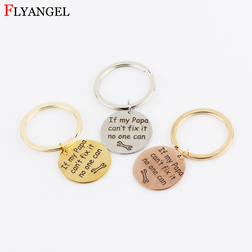 1Pcs Fashion Keychain If my Papa cant fix it no one can Daddy Keyring Gift for Dad Fathers Day Keychain Tool Pendant Key Ring ...