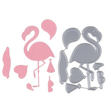 64*90mm flamingo crane Customized Hot Stencil Metal Cutting Dies Cut Practice Hands-on DIY Scrapbooking Album Craft dies(China)