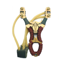 Scoutdoor Powerful Sling Shot with Golden Bull Head Slingshot Catapult Stone Hunting