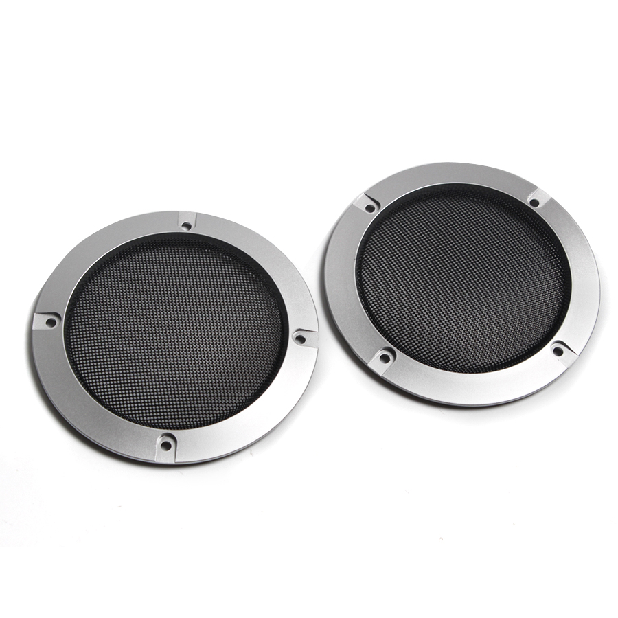 Image 2 - 1 Pair  High grade Silver Replacement Round Speaker Protective Mesh Net Cover Speaker Grille 2/3/4 inch Speaker Accessories-in Speaker Accessories from Consumer Electronics