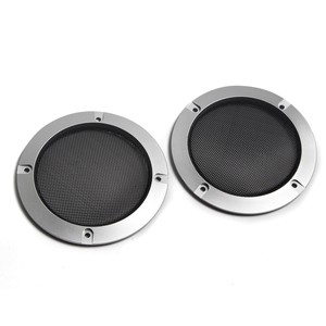 Image 2 - Rede protetora de alto falante, substituição de prata de alta qualidade, malha redonda, capa para grade do alto falante, 2/3 polegadas, 1 par acessórios