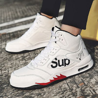 SUROM Men Basketball Shoes High Top Outdoor Sport Athletic Shoes Air Cushion Men Sneakers Breathable Male Trainers Size 39 44