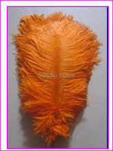 Free shipping 100pcs/lot 30-35cm/12-14'' cheap ostrich feathers orange ostrich feather plumes for wedding table centerpiece