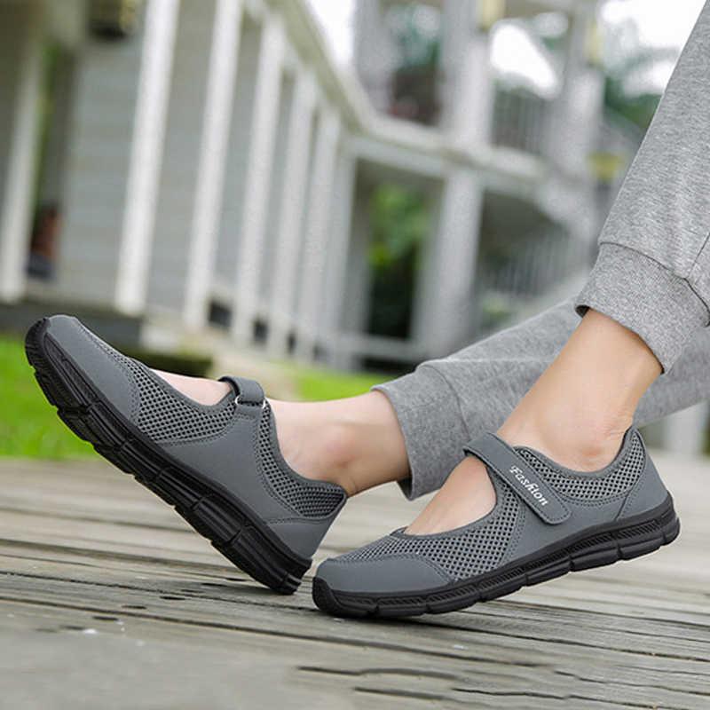 Сезон весна-лето; модная женская обувь на плоской платформе; женские повседневные кроссовки с дышащей сеткой; женские водонепроницаемые мокасины на плоской подошве; Мокасины