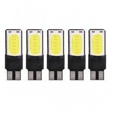 5Pcs  T10 LED COB W5W 168 4W 194 6000K White Light Car Decode Lamps (CD/12V)