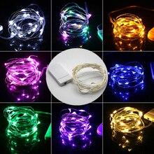 Светодиодный мини-светильник-гирлянда 2 м с серебряной проволокой, сказочный светильник s для гирлянды, дома, Рождества, свадьбы, вечеринки, украшения, питание от батареи CR2032