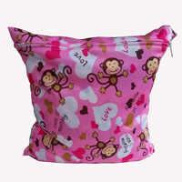 Sacchetto del pannolino del bambino animale sacchetto di immagazzinaggio Lavabile Riutilizzabile Del Panno Del Pannolino Sacchetto Bagnato