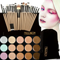 Hot 15 Colors Face Contour Concealer Palette + 20 Pcs Wooden Handle Makeup Brushes Foundation Concealers Face Powder Brushes Set