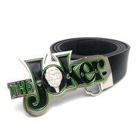 Mens cinture casual Nero faux Cinture in pelle per gli uomini DC Comics nemico delle Anime Batman the joker fibbia della cintura in metallo 130 cm lunga cintura