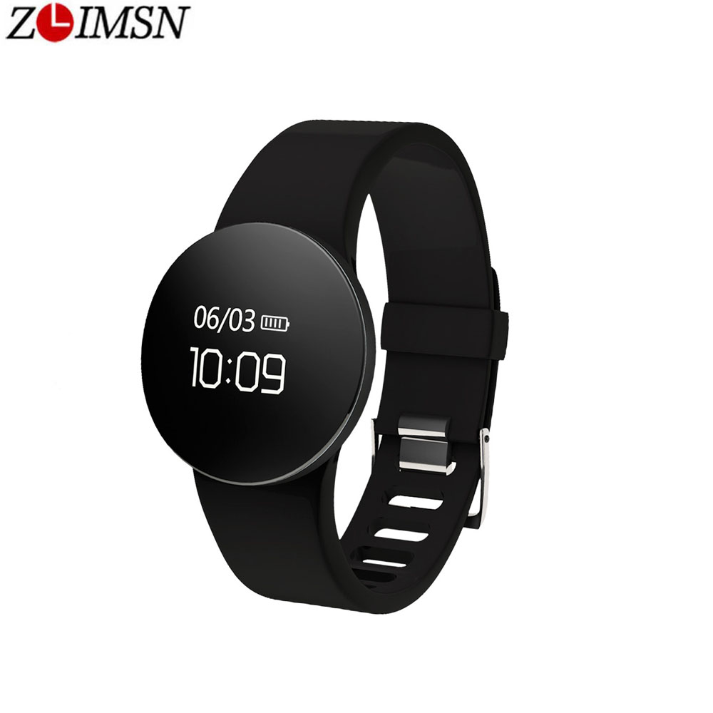 ZLIMSN Smart Bracelet Sport Health Band Pedometer Sleep Activity Tracker Fitness Bluetooth Watch Touch Button For IOS Android