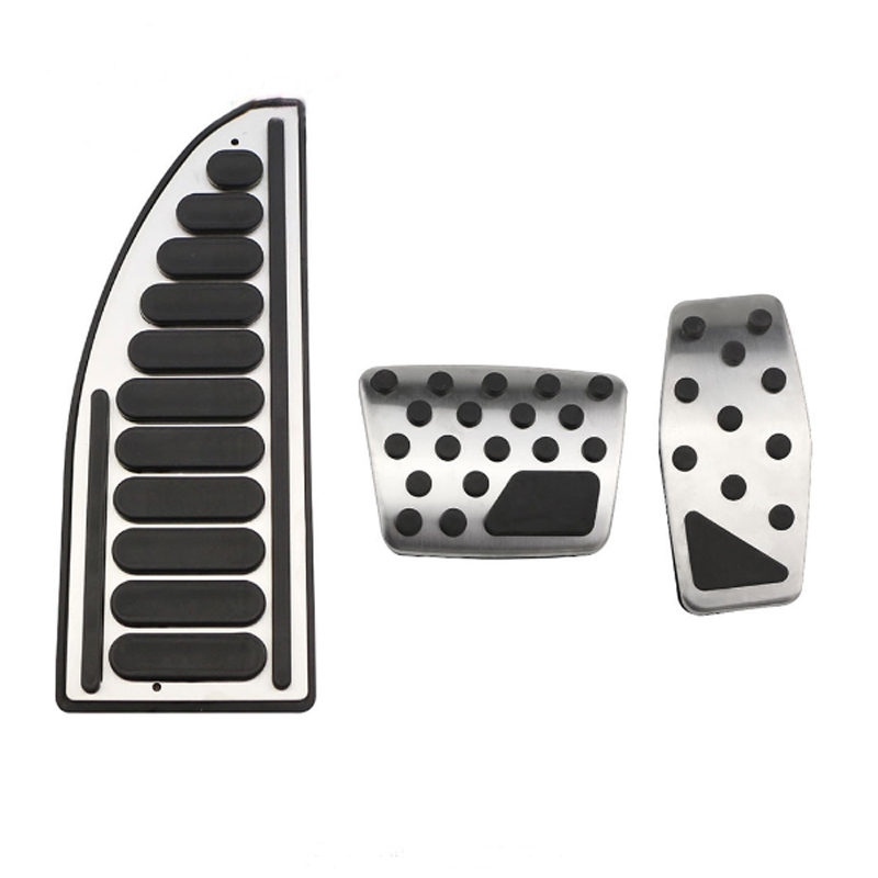 Foal Burning Stainless Steel Accelerator Pedal Brake Pedals Cover Rest Pedals for <font><b>Jeep</b></font> <font><b>Compass</b></font> 2017 <font><b>2018</b></font> Parts Accessories image
