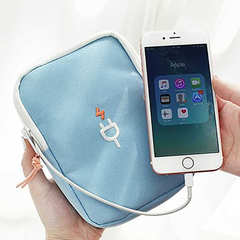 Portable Travel Gadget Bag Cable Digital Bag Data Lines Package Organizor travel Accessories Supplies Products Stuff