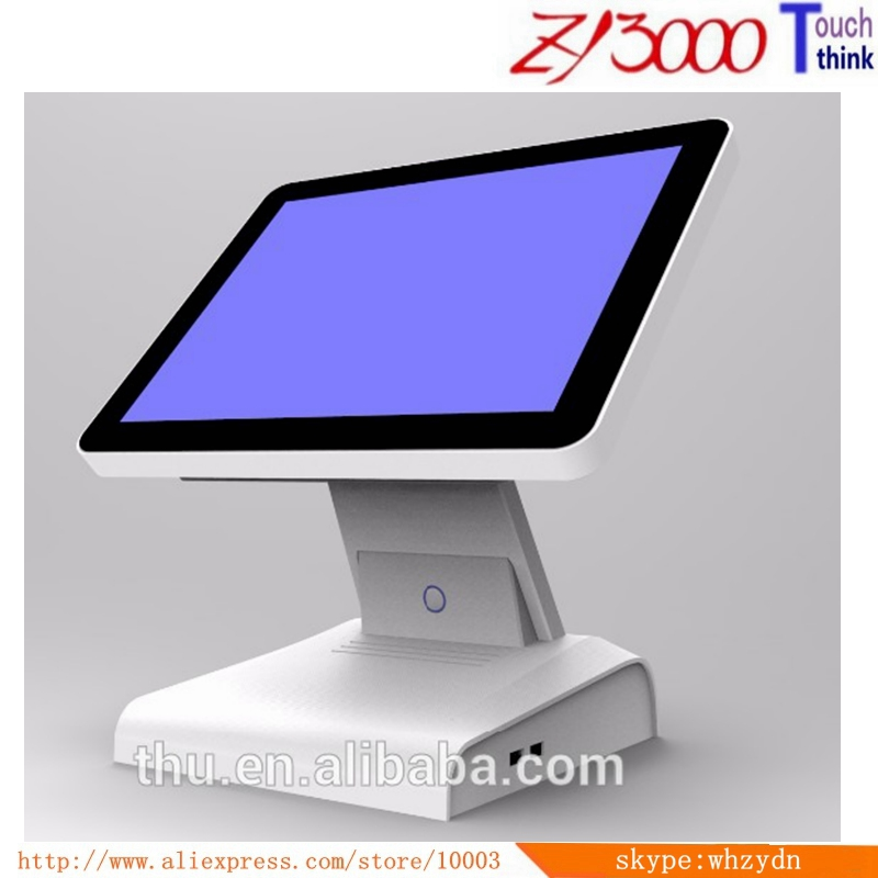 wholesale 15 inch 1037u 8G ram 128Gssd capacitive touch screen POS system english VFD customer POS Terminal With MSR card reader new stock cheap pos system 15 inch capacitive multi touch screen cash register restaurant with english vfd customer display