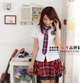 Women Japanese School Uniform Skirt Cotton Plaid School Uniform skirts choral service costume