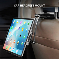 Adjust Tablet Car Holder Back Seat Stand for Ipad Air Pro Mini 5 11' 360 Rotation Bracket Back Seat Car Mount Handrest PC