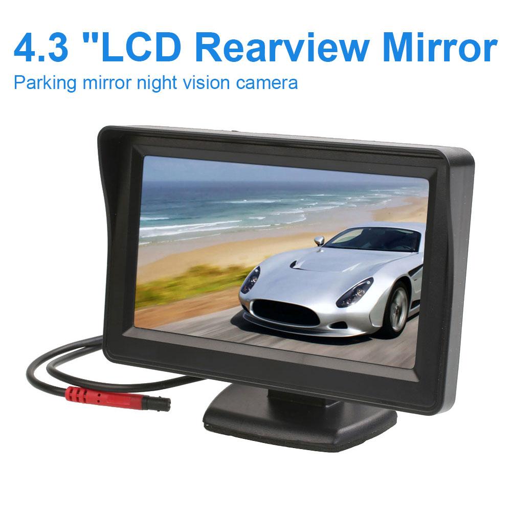 4.3 inch TFT LCD Desktop Car Monitor Backup Rearview Parking Mirror Camera Monitor Universal Rearview Backup Car Camera