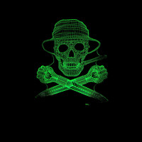 7 Colors Changing 3D Visual Cool Skull Lighting Fixture Led Nightlight For Kids Touch Usb Head