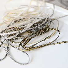 hot sale Lace accessories High quality gold silver braided rope 0.3 CM  D0302