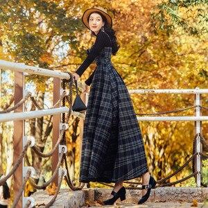 Женский клетчатый комбинезон на бретельках, платье с милым свитером, комплект из двух предметов, платье и свитер, 2018