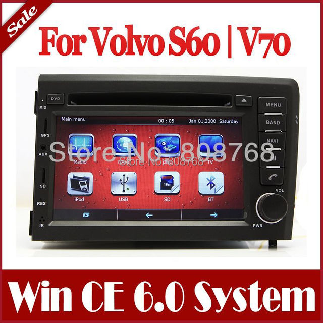 2 Din In Dash Car DVD Player for Volvo S60 V70 2001 2004 with GPS Navigation Radio CD Bluetooth ...