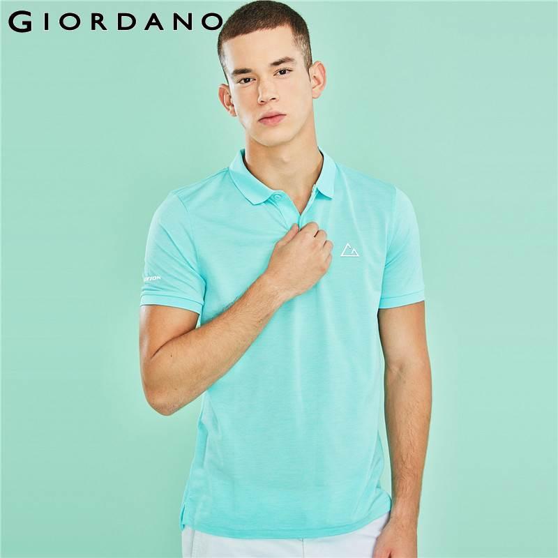 Giordano Men Polo Shirt G-Motion Series Short Sleeve Polo Shirt For Men Thin Colorful Summer Tops Camisa Polo Masculina