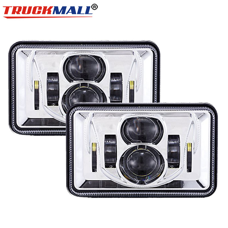 Us 78 85 31 Off For Ford Mustang Square 4x6inch Led Sealed Beam Truck Headlights 60w Headlamp Bulb Replacement Projector Lamp For Dodge In Car Light