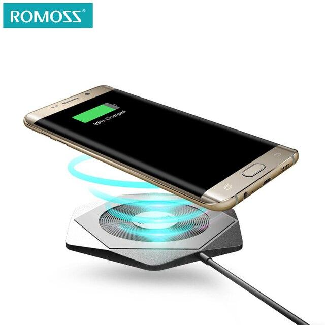 ROMOSS Беспроводной Зарядное устройство для iPhone X 8 плюс QC 2,0 Беспроводной зарядки для samsung Galaxy S8 S9 S7 край Ци беспроводной Зарядное устройство Pad