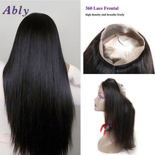 Ably Brazilian 360 Frontal Band Lace Frontal Straight Hair Natural Hailine Cheap 360 Frontal With Baby Hair 360 lace virgin hair
