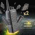2 ШТ. Оригинальный 10 Вт Extra High Power TC-3000A Профессиональный Домофон TYT УКВ Приемопередатчик с 3600 МАЧ Батареи