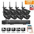 2MP CCTV система 1080P 8ch HD Беспроводной NVR комплект 3 ТБ HDD Открытый ИК ночного IP Wifi камера система безопасности видеонаблюдение Hiseeu