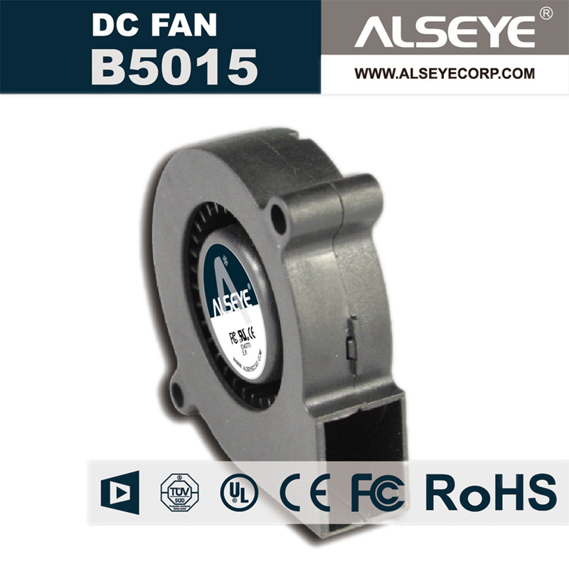 ALSEYE B5015 50mm Blower DC Cooling Fan Radiator 12v 0.12A 4000RPM 2 Lines Hydraulic Bearing Electronic and Exhaust Fans 75mmx30mm dc 12v 0 24a 2 pin computer pc sleeve bearing blower cooling fan 7530 r179t drop shipping