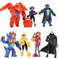 Big hero 6 7 pcs/set baymax figuras dos desenhos animados do filme modelo figura de ação brinquedos véspera de natal presente de aniversário educacional